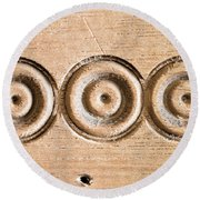 Wood Carving Round Beach Towel by Tom Gowanlock