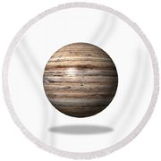 Wooden Globe Round Beach Towel