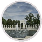 World War 2 Memorial Round Beach Towel