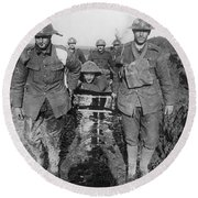World War I: Soldiers Round Beach Towel
