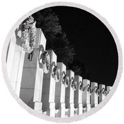 World War Pillars Round Beach Towel
