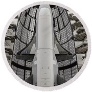 X-37b Orbital Test Vehicle Round Beach Towel