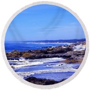 Yachats Oregon 2013 Round Beach Towel