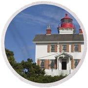Yaquina Bay Lighthouse Round Beach Towel