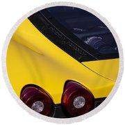 Yellow F430 Round Beach Towel