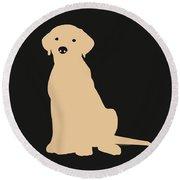 Yellow Labrador Round Beach Towel