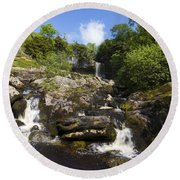 Yorkshire Dales Waterfall Round Beach Towel