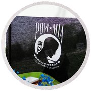 You Are Not Forgotten Round Beach Towel