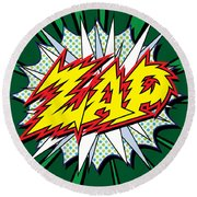 Zap Round Beach Towel by Gary Grayson