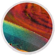 Agate Microworlds 1 Round Beach Towel