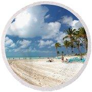 Beach At Coco Cay Round Beach Towel