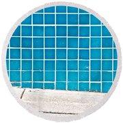 Blue Tiles Round Beach Towel