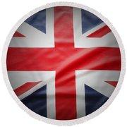 British Flag 17 Round Beach Towel