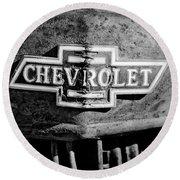 Chevrolet Grille Emblem Round Beach Towel