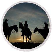 Cowboys Round Beach Towel