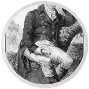 Edward Jenner (1749-1823) Round Beach Towel