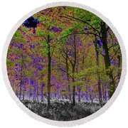 Forest Art Round Beach Towel