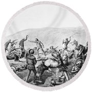 Little Bighorn, 1876 Round Beach Towel