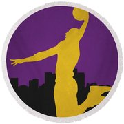 Los Angeles Lakers Round Beach Towel