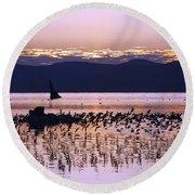 Mono Lake California Round Beach Towel by Jason O Watson