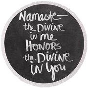 Namaste Round Beach Towel