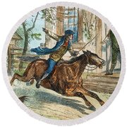 Paul Reveres Ride Round Beach Towel