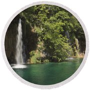 Plitvice Lakes National Park Croatia Round Beach Towel