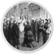 Queen Victoria (1819-1901) Round Beach Towel