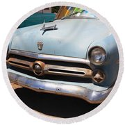 Route 66 Classic Car Round Beach Towel