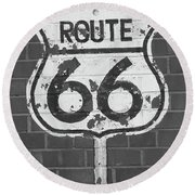 Route 66 Shield Round Beach Towel