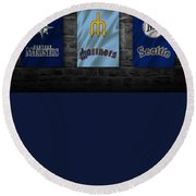 Seattle Mariners Round Beach Towel