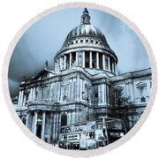 St Paul's Cathedral London Art Round Beach Towel