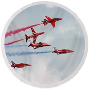 The Red Arrows Round Beach Towel