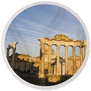 The Roman Forum Round Beach Towel