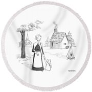 Captionless; Round Beach Towel by Pat Byrnes