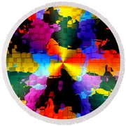 1000 Abstract Thought Round Beach Towel
