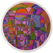 1008 Abstract Thought Round Beach Towel
