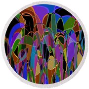 1009 Abstract Thought Round Beach Towel
