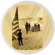 100th Anniversary Of Deactivation Ft. Lowell Tucson Arizona 1991 Toned 2008 Round Beach Towel