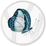 101 Perched Danis Danis Butterfly Round Beach Towel by Amy Kirkpatrick