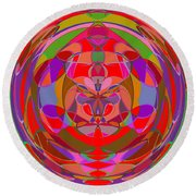 1015 Abstract Thought Round Beach Towel