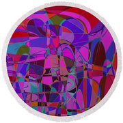 1016 Abstract Thought Round Beach Towel