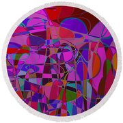 1017 Abstract Thought Round Beach Towel