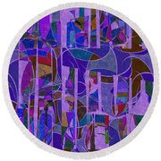 1022 Abstract Thought Round Beach Towel
