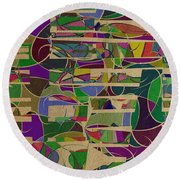 1023 Abstract Thought Round Beach Towel