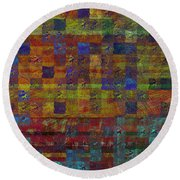 1030 Abstract Thought Round Beach Towel