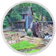 Sixes Mill On Dukes Creek - Square Round Beach Towel