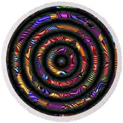 1043 Abstract Thought Round Beach Towel