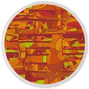 1045 Abstract Thought Round Beach Towel
