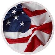 American Flag 34 Round Beach Towel